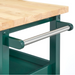 angelo:HOME Kitchen Island/Cart - Boston (Green)