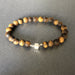 e.baran Sterling Silver Spiritual Beads Bracelet - Tiger's Eye (matte) - angelo:HOME