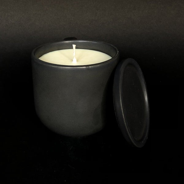 e.baran - Limited Edition Handmade Pottery Candle - Tumbler - Teakwood and Patchouli - angelo:HOME