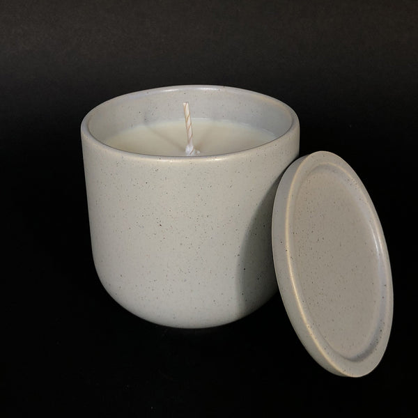 e.baran - Limited Edition Handmade Pottery Candle - Tumbler - Spiced Pumpkin - angelo:HOME