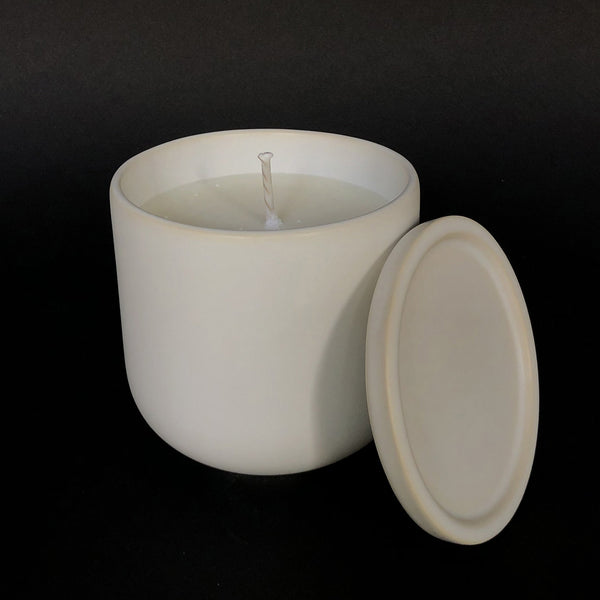 e.baran - Limited Edition Handmade Pottery Candle - Tumbler - Vintage Leather - angelo:HOME