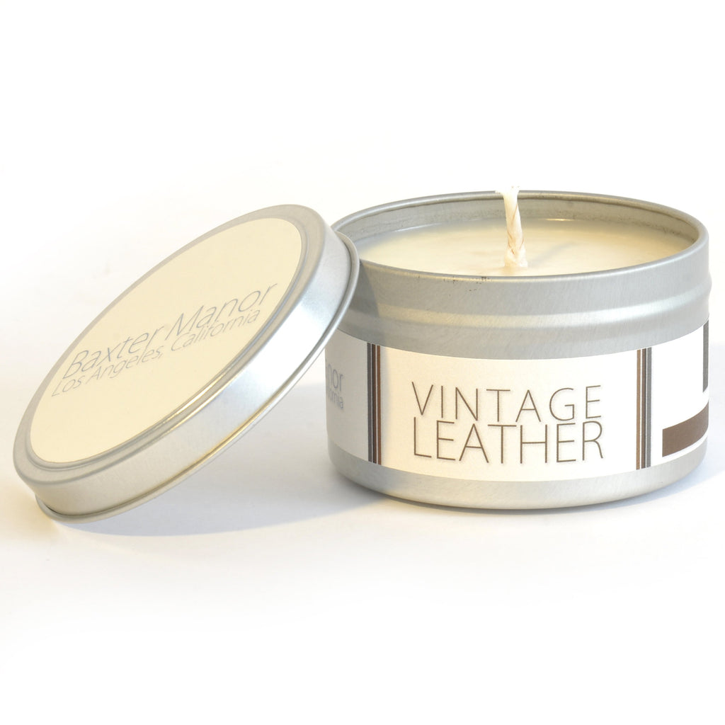 Baxter Manor - Modern Candle - Vintage Leather - angelo:HOME