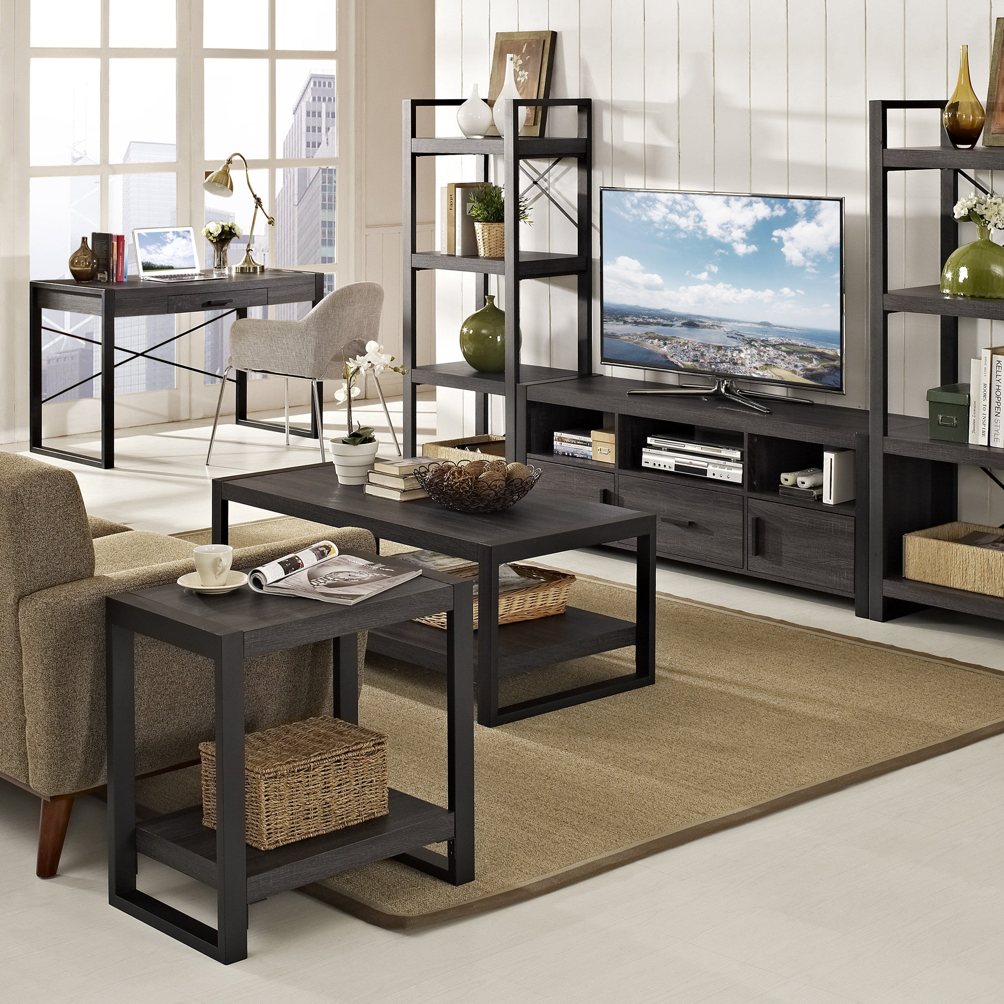 "angelo HOME City Grove 48"" Coffee Table in Charcoal"