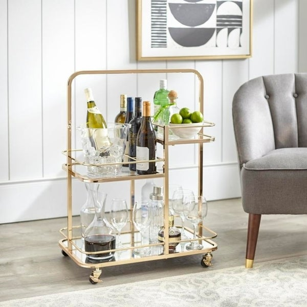 angelo:HOME Bar Cart - Alcott 3-Tier (gold)