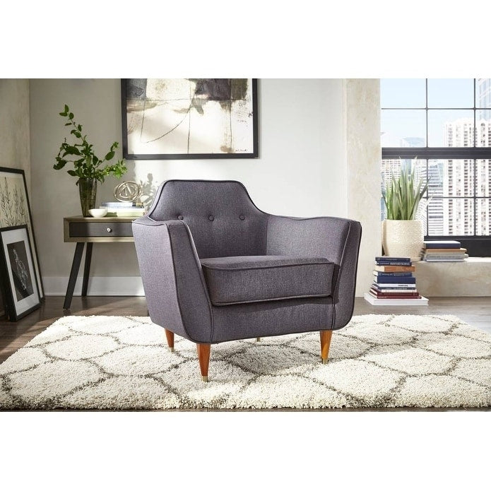 angelo:HOME Mid-Century Accent Chair in Charcoal Grey