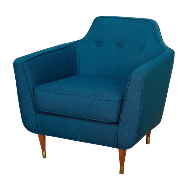 angelo:HOME Mid-Century Accent Chair in Midnight Blue - angelo:HOME