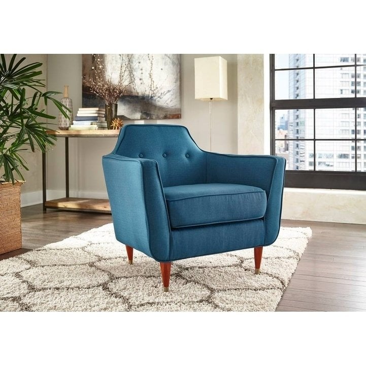 angelo:HOME Allen Accent Chair in Midnight Blue