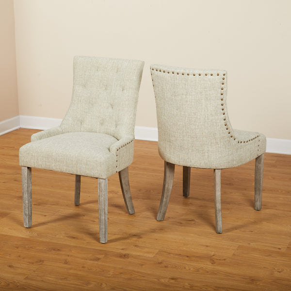 angelo:HOME Upholstered Parson Dining Chairs (set of 2) - angelo:HOME