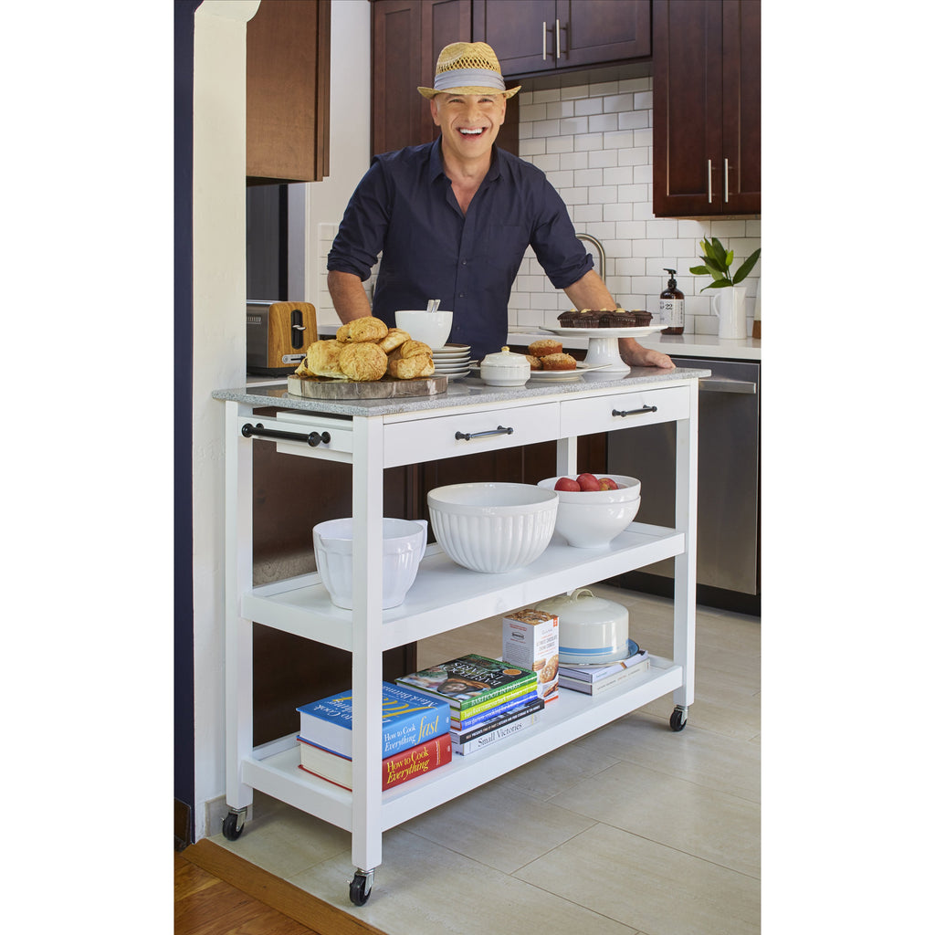 angelo:HOME Kitchen Island/Cart - Arlington (white) - angelo:HOME