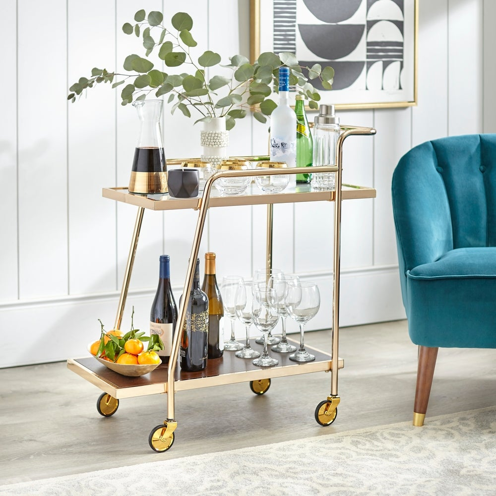 angelo:HOME Bar Cart - Dorset (gold)