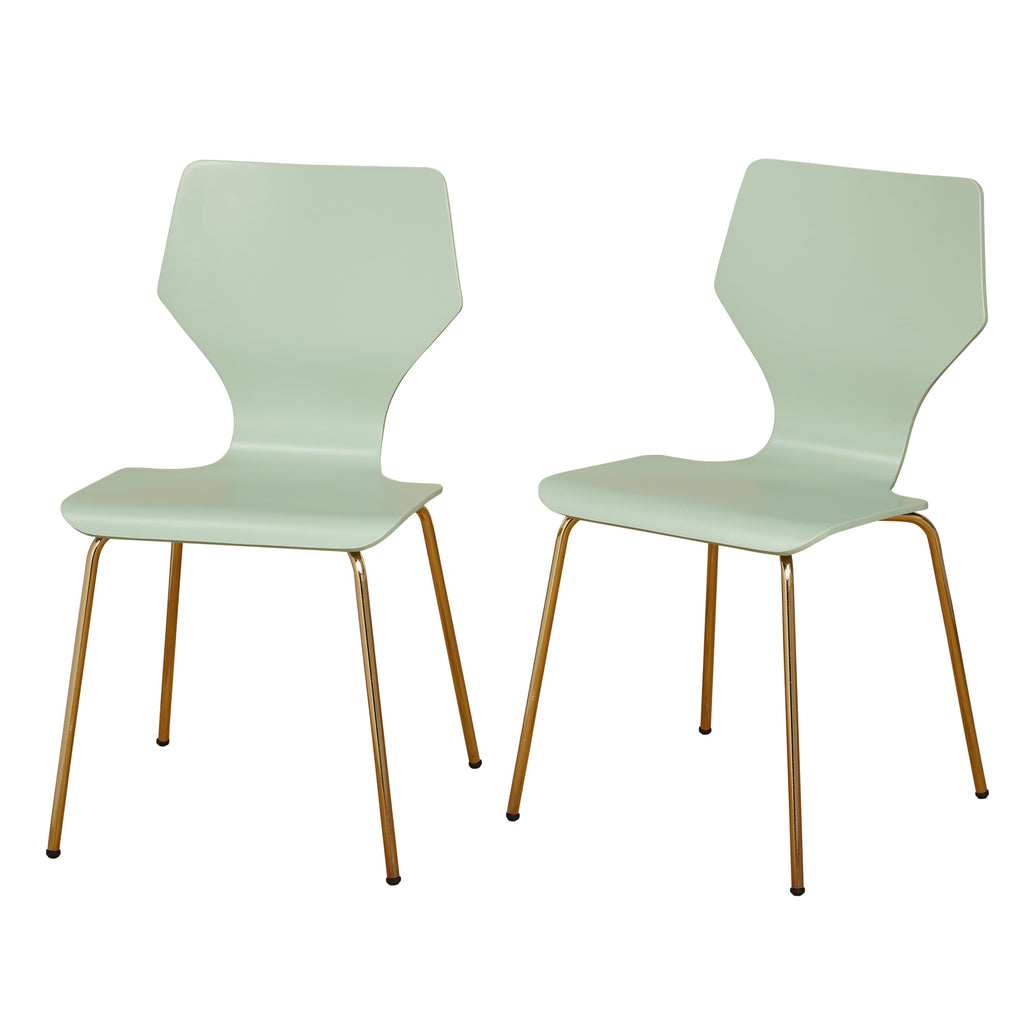 angelo:HOME Dining Chairs - Enna Bentwood/Metal set of 2 (mint) - angelo:HOME