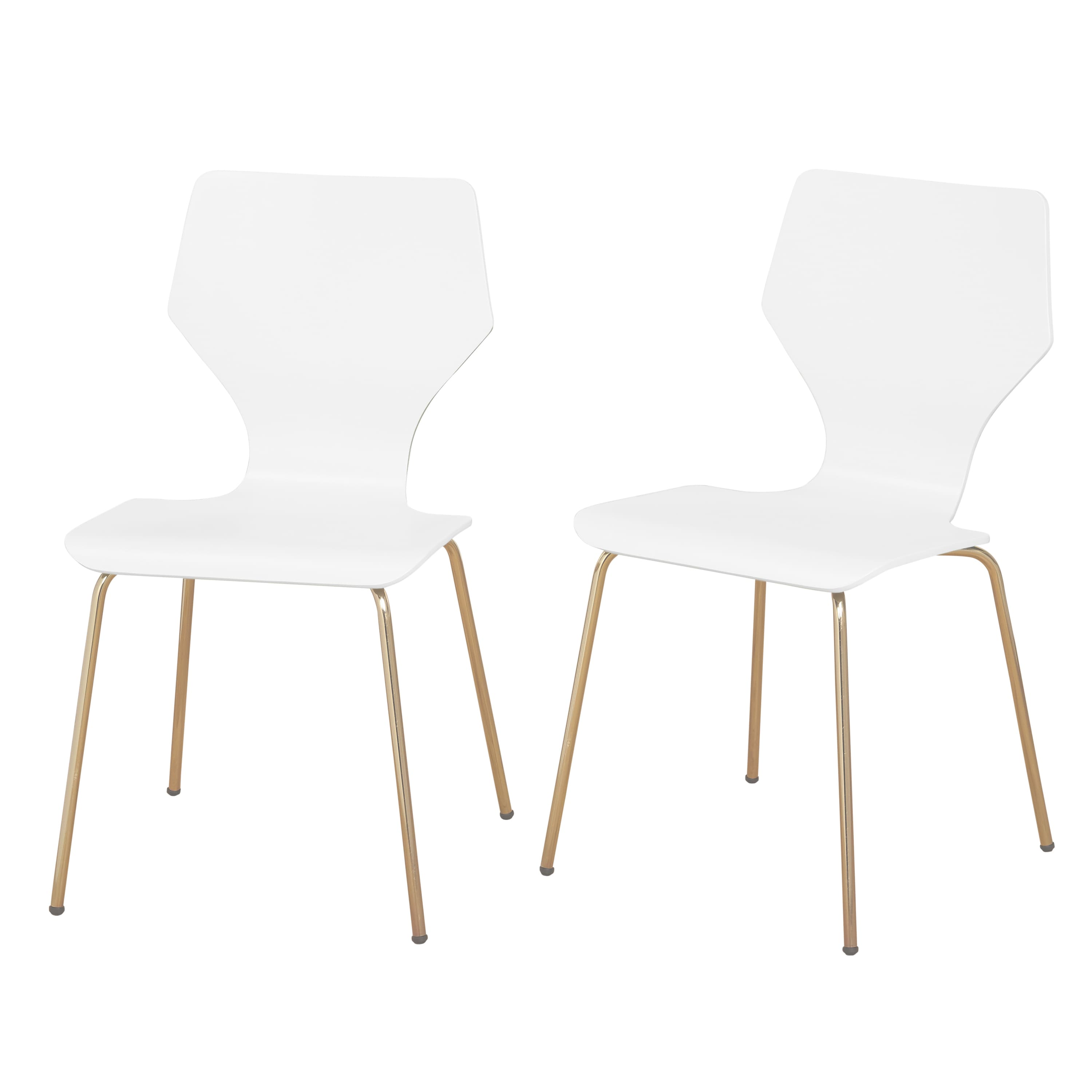 Pleasant Angelo Home Dining Chairs Enna Bentwood Metal Set Of 2 White Machost Co Dining Chair Design Ideas Machostcouk