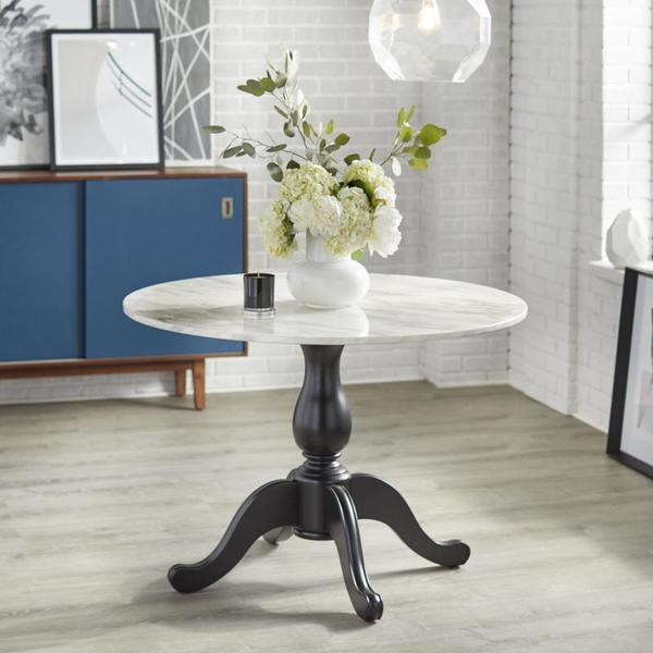 angelo:HOME Dining Table - Enna (black base)