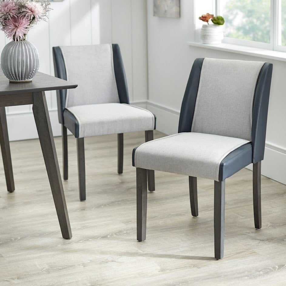 angelo:HOME Dining Chairs - Grayson  set of 2 (grey) - angelo:HOME