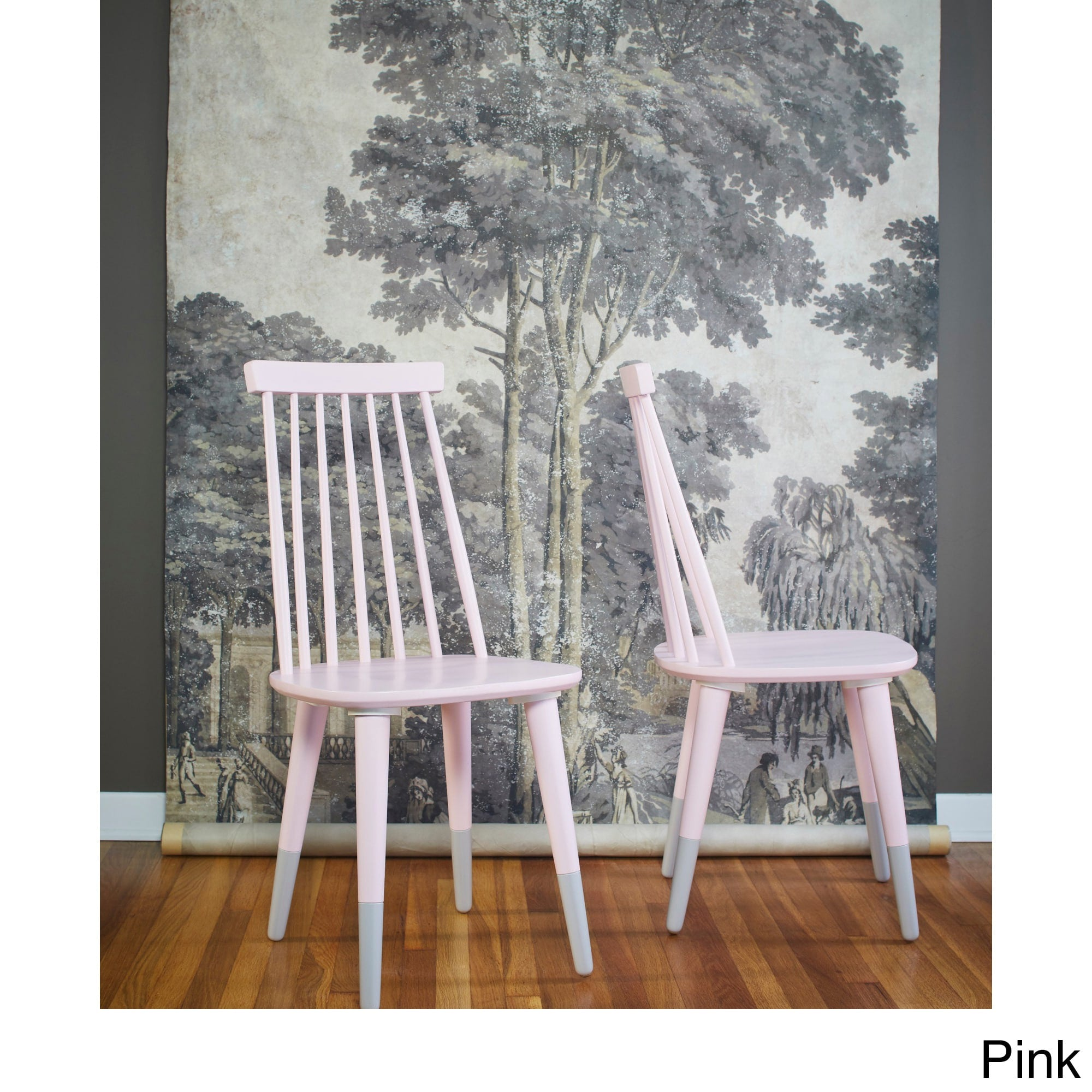 Angelo:HOME Wood Dining Chairs In Pink (set Of 2)   Angelo: