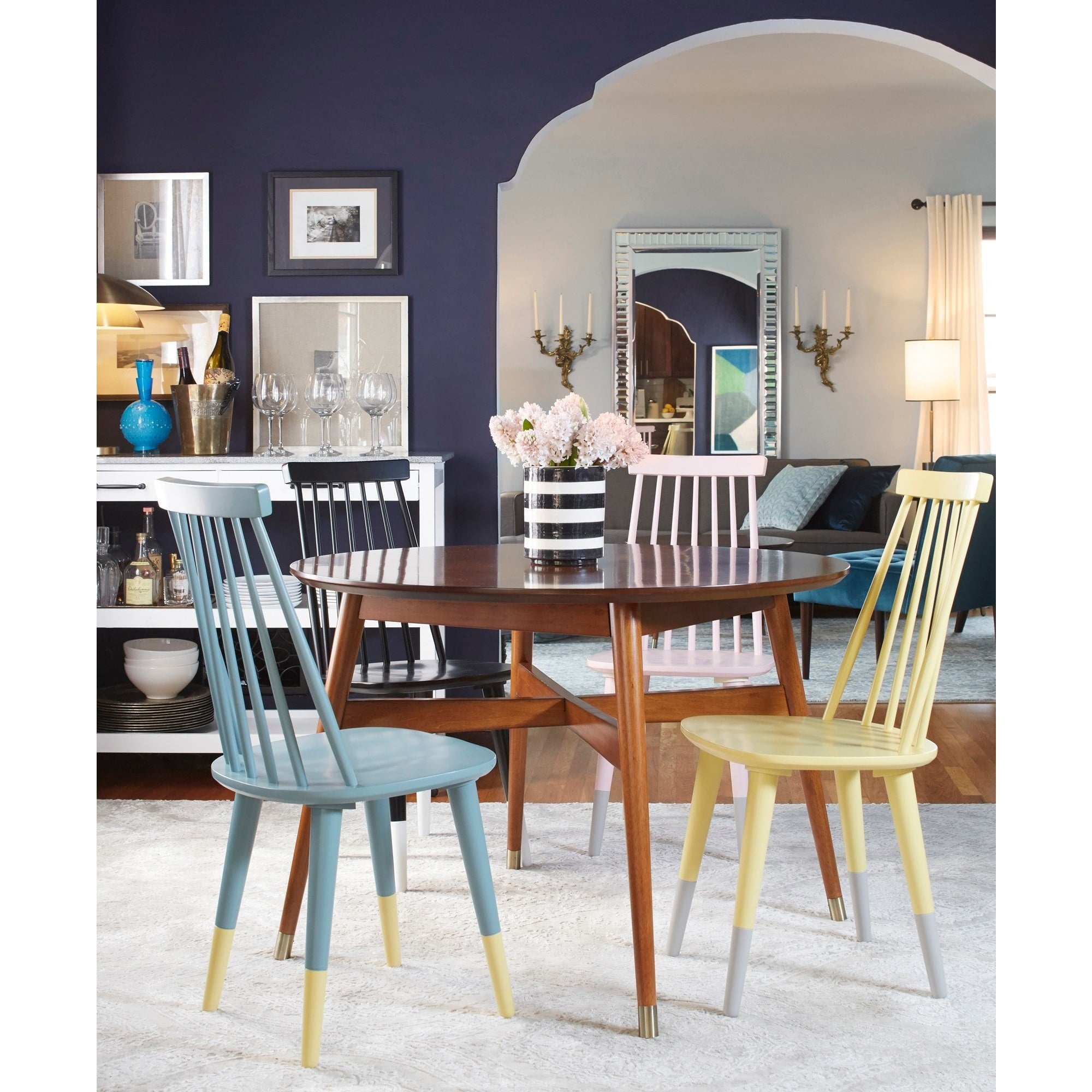 Angelo Home Dining Chairs Hermosa Set Of 2 Yellow