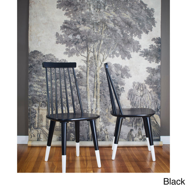 angelo:HOME Wood Dining Chairs in Black (set of 2) - angelo:HOME