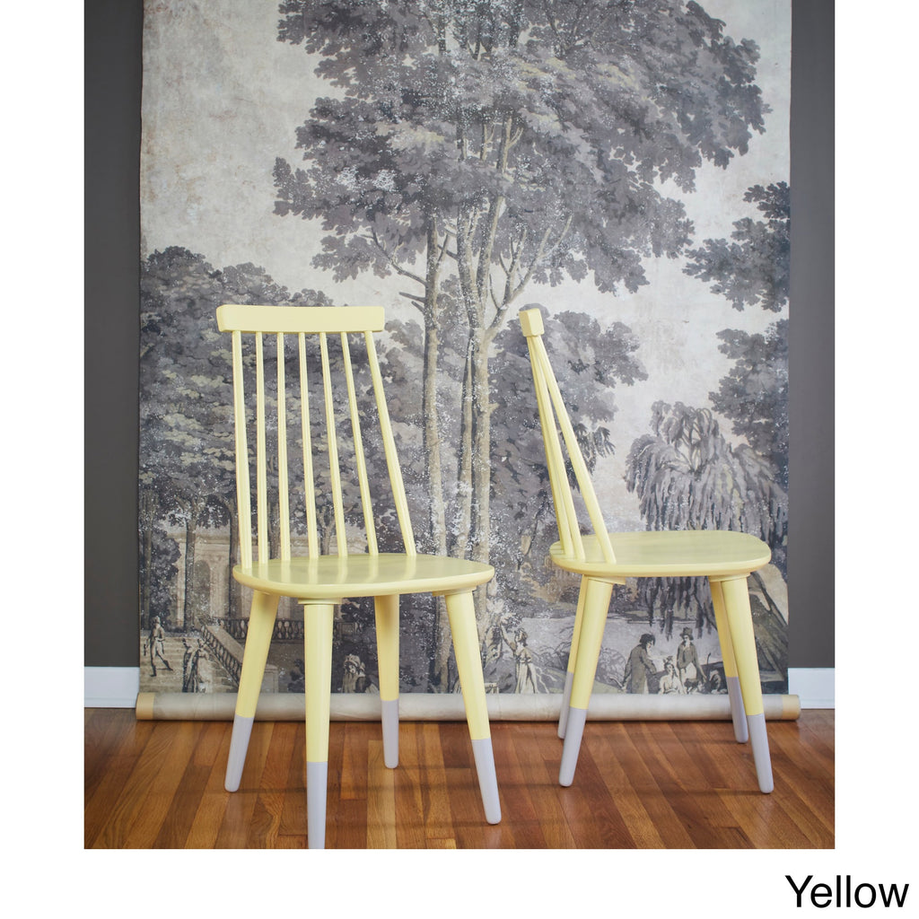 angelo:HOME Wood Dining Chairs in Yellow (set of 2) - angelo:HOME