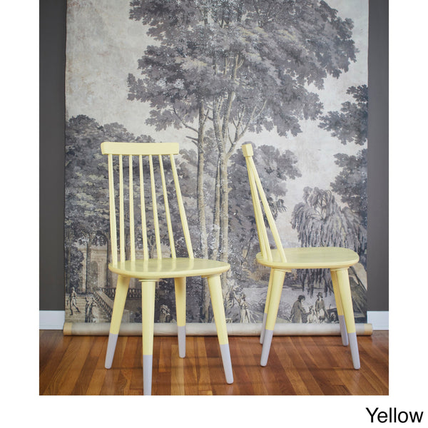 angelo:HOME Wood Dining Chairs in Yellow (set of 2)