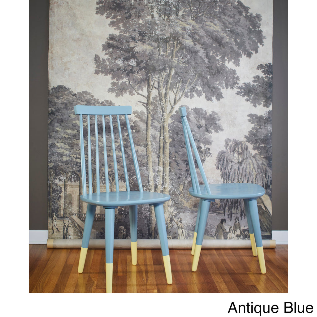 angelo:HOME Dining Chairs - Hermosa set of 2 (antique blue) - angelo:HOME