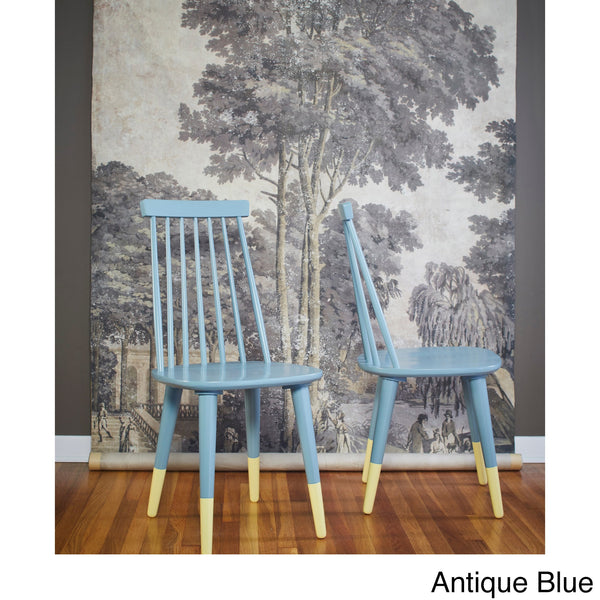 angelo:HOME Wood Dining Chairs in Antique Blue (set of 2) - angelo:HOME