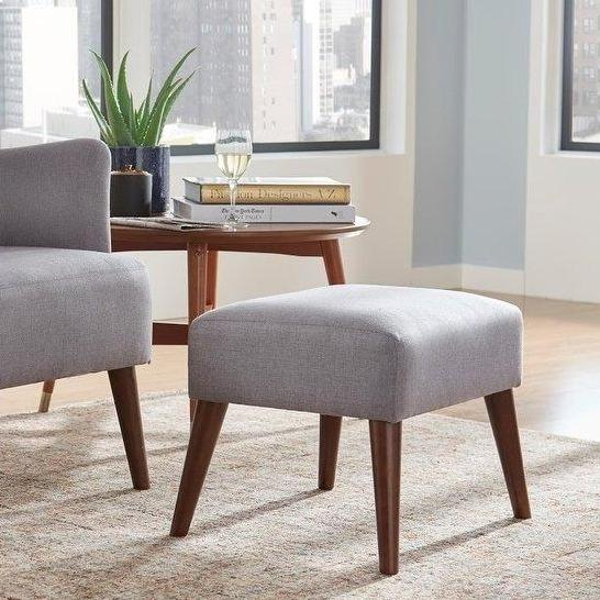 angelo:HOME Ottoman - Jane in Grey - angelo:HOME