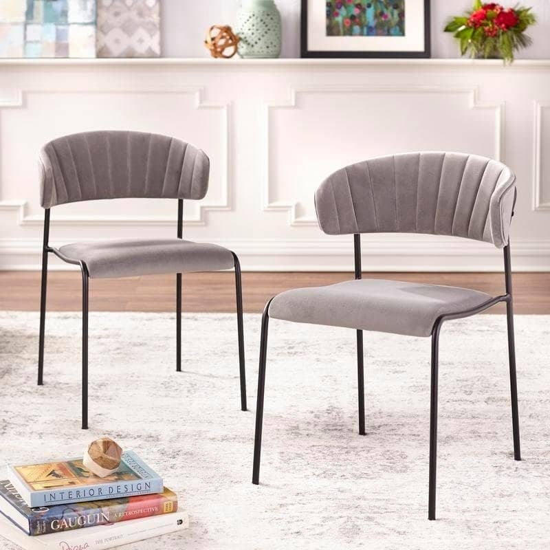 angelo:HOME Dining Chair - Kalmar - set of 2 (grey) - angelo:HOME