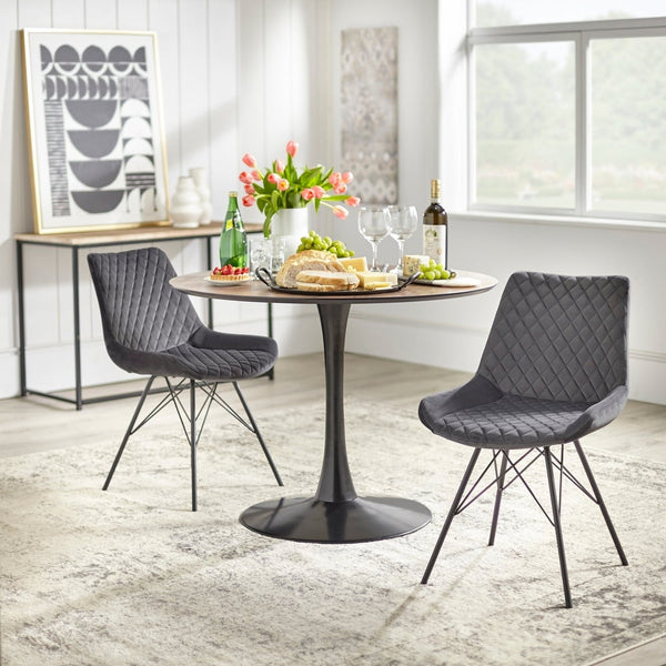 angelo:HOME Dining Chair - Kavitt - set of 2 (grey) - angelo:HOME