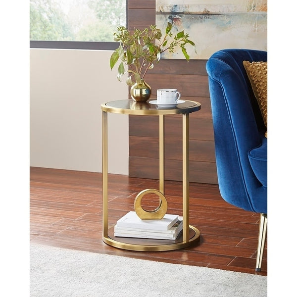 angelo:HOME End Table - Mae (walnut/gold)