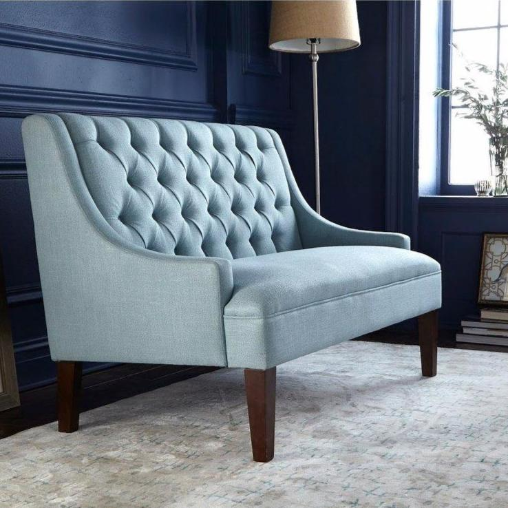 angelo:HOME Loveseat - Melina (blue) - angelo:HOME