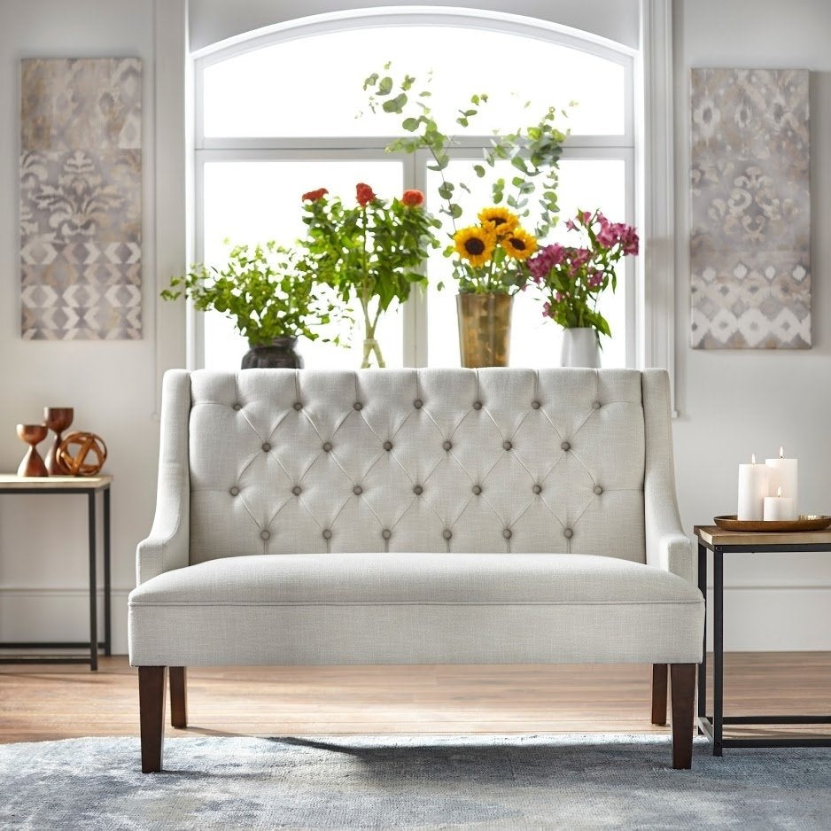 angelo:HOME Loveseat - Melina (pearl)