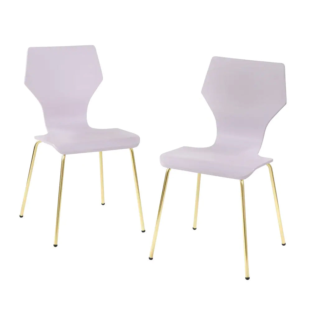 angelo:HOME Dining Chairs - Enna Bentwood/Metal set of 2 (Lilac)