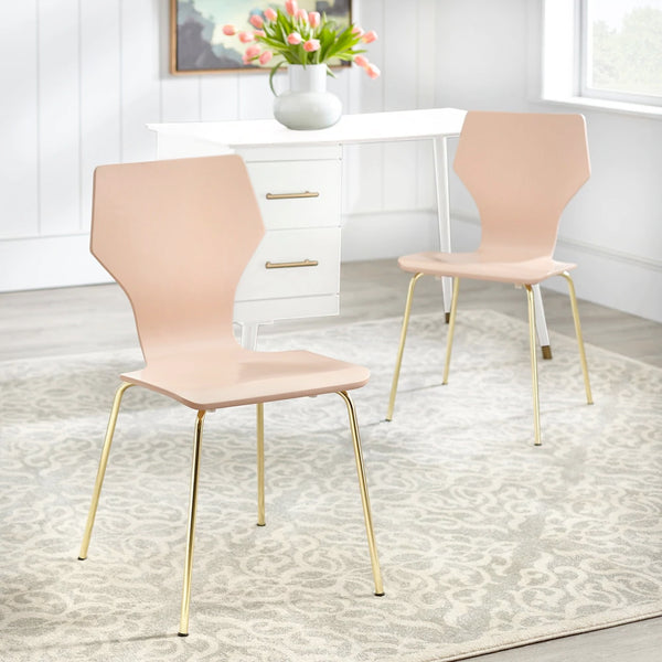 angelo:HOME Dining Chairs - Enna Bentwood/Metal set of 2 (Pink)