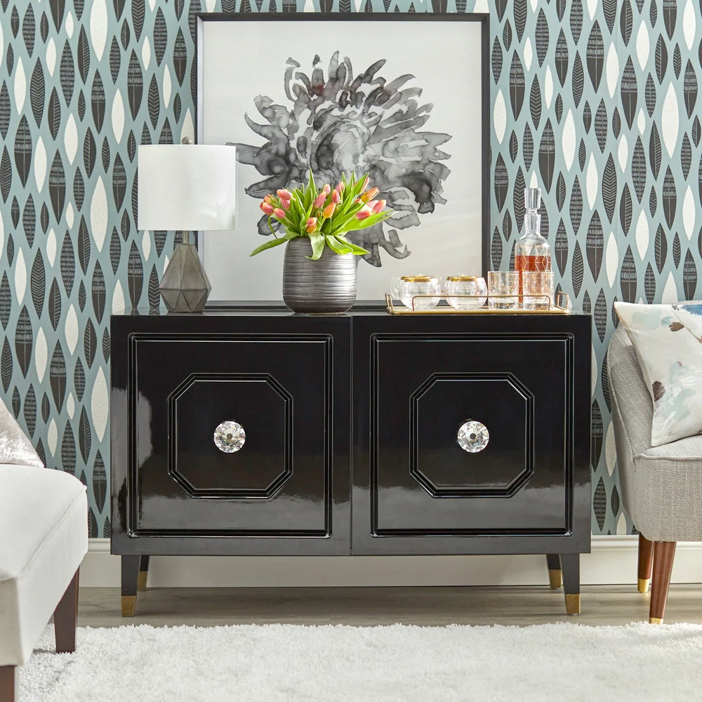 angelo:HOME TV Console/Buffet Cabinet - Jaslene (black)