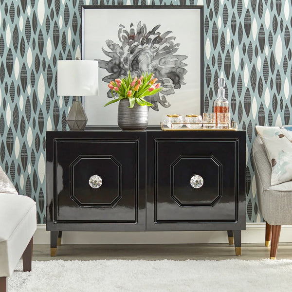 angelo:HOME TV Console/Buffet Cabinet - Jaslene (black) - angelo:HOME