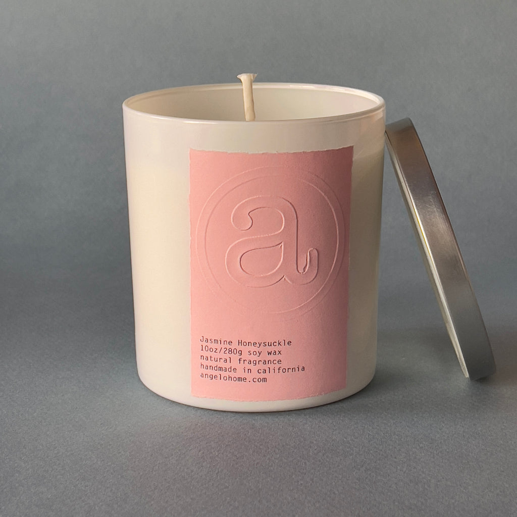 angelo:HOME Jasmine Honeysuckle Scented Candle