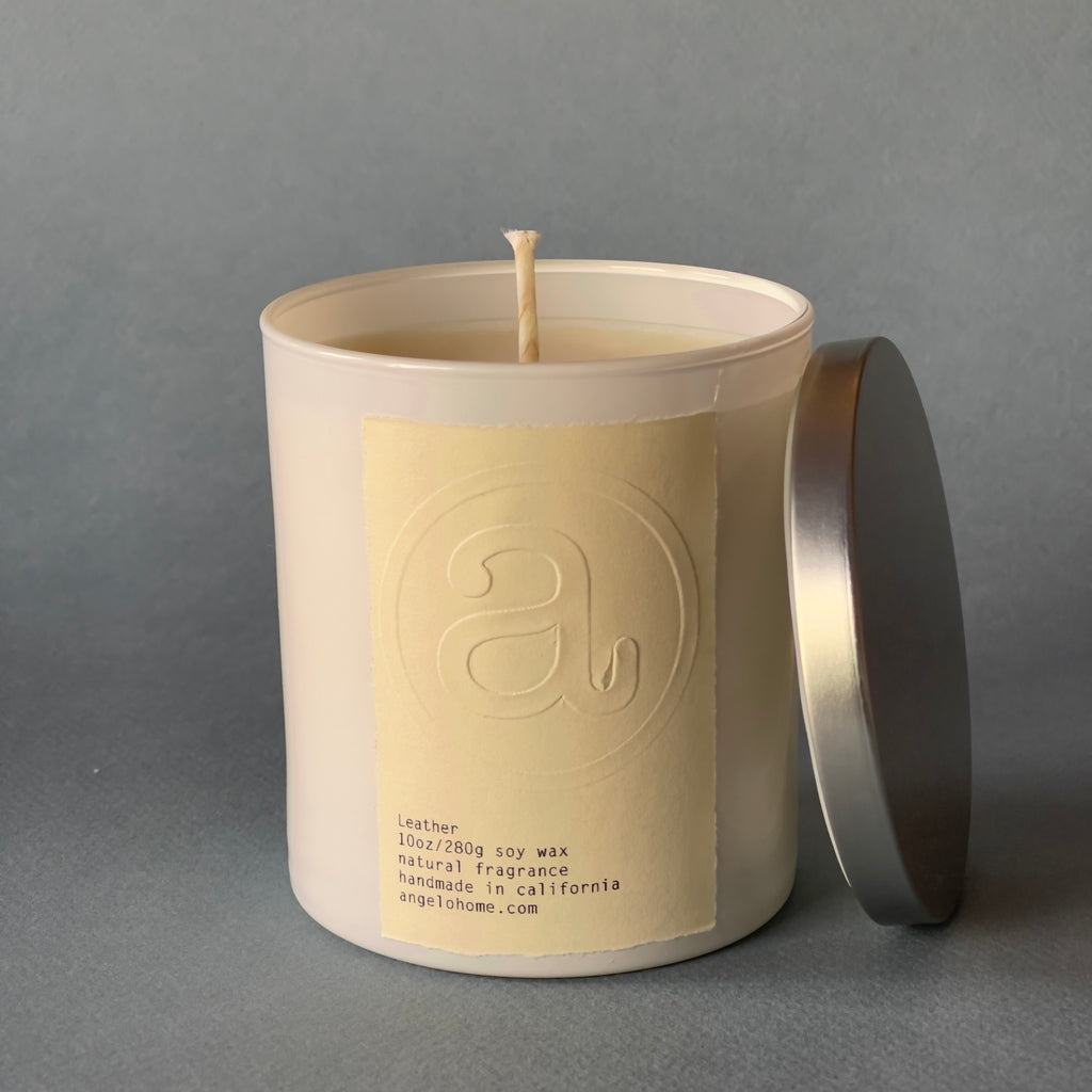 angelo:HOME Leather Scented Candle