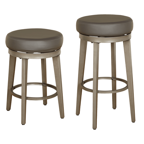 angelo:HOME Linden Leather Swivel Stool (set of 2) - angelo:HOME