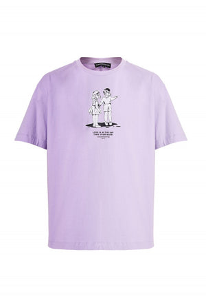 Love is in the air, take your mask Lavender tee
