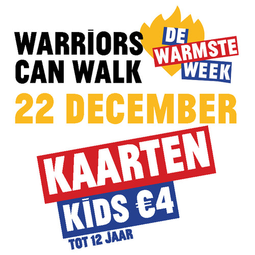 Kaart kids #Warriors Can Walk