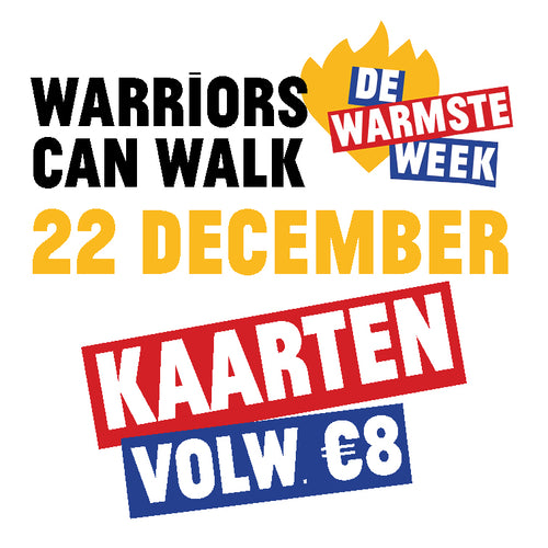 Kaart volwassene #Warriors Can Walk