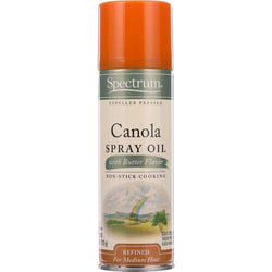 Spectrum Naturals Spray Oil - Canola - with Butter Flavor - 6 oz - case of 6