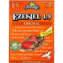 Food For Life Baking Co. Cereal - Organic - Ezekiel 4-9 - Sprouted Whole Grain - Original - 16 oz - case of 6