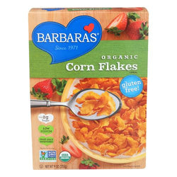 Barbara's Bakery Corn Flakes - Fruit Juice Sweetened - Case of 6 - 9 oz.