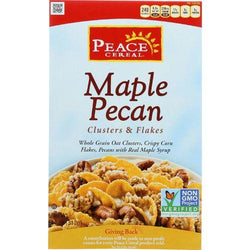 Peace Cereals Cereal - Clusters and Flakes - Maple Pecan - 11 oz - case of 6
