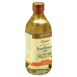 Spectrum Naturals High Heat Refined Organic Sunflower Oil - Case of 1 - 16 Fl oz.