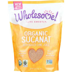 Wholesome Sweeteners Dehydrated Cane Juice - Organic - Sucanat - 2 lbs - case of 12