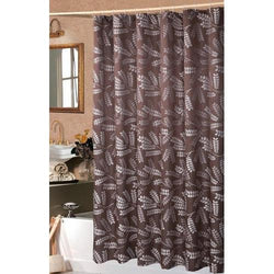 Brookdale Luxury Chocolate Shower Curtain 72x72