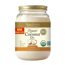 Spectrum Naturals Organic Refined Coconut Oil - Case of 6 - 29 Fl oz.