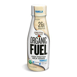 Organic Valley Fuel Milk Protien Shake - Vanilla - Case of 12 - 11oz Bottle